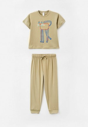 Пижама Sela. Цвет: хаки
