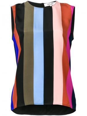 Полосатый топ Dvf Diane Von Furstenberg. Цвет: многоцветный