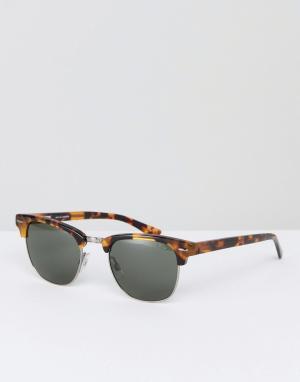 Коричневые солнцезащитные очки в стиле ретро Levis. Цвет: коричневый