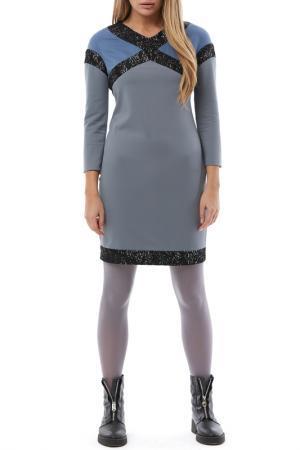 Платье Gloss. Цвет: серый, голубой