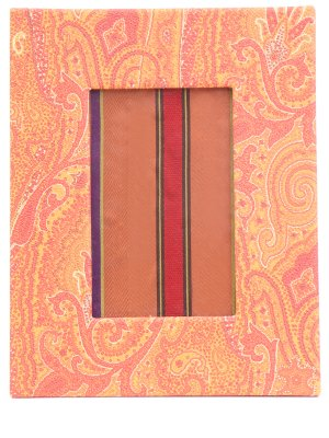Рамка для фотографий ETRO. Цвет: оранжевый