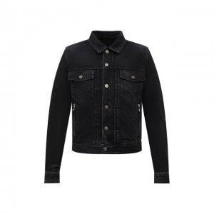 Джинсовая куртка Balmain. Цвет: чёрный