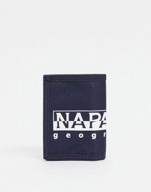 Темно-синий бумажник Happy-Голубой Napapijri