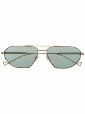 Солнцезащитные очки-авиаторы Emporio Armani. Цвет: золотистый