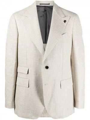 Пиджак в ломаную клетку Gabriele Pasini. Цвет: нейтральные цвета