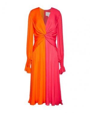 Платье длиной 3/4 CAROLINA HERRERA. Цвет: оранжевый