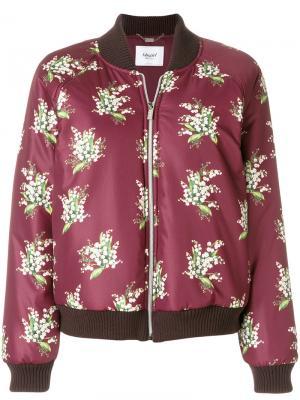 Куртка бомбер с цветочным принтом Blugirl. Цвет: красный