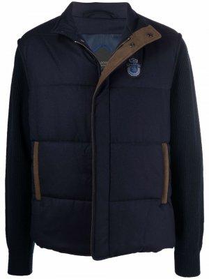Куртка с дутыми вставками Billionaire. Цвет: синий