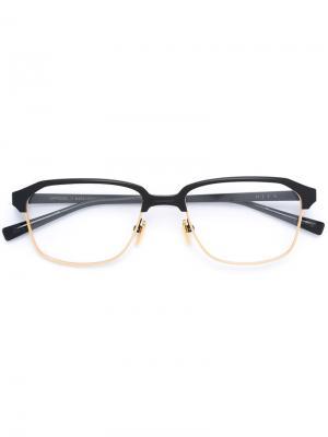 Солнцезащитные очки в прямоугольной оправе Dita Eyewear. Цвет: чёрный