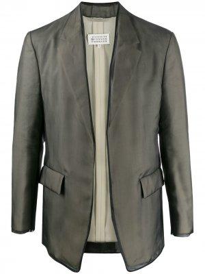 Однобортный пиджак Maison Margiela. Цвет: черный