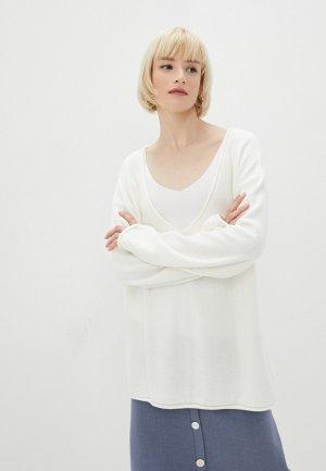 Пуловер Katya Erokhina Atom White. Цвет: белый