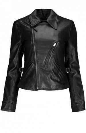 Куртка кожаная Polo Ralph Lauren. Цвет: черный