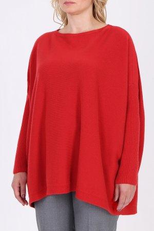 Красный пуловер оверсайз Salvatore Ferragamo