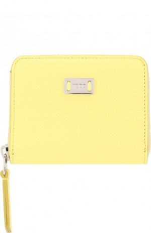 Кожаный кошелек на молнии Tod's. Цвет: желтый