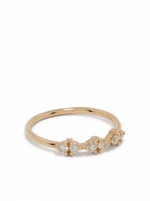 Кольцо из желтого золота с бриллиантами WWAKE. Цвет: золотистый
