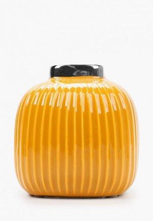 Ваза Mandarin Decor Горчичная. Цвет: желтый