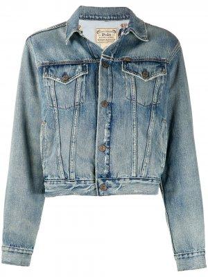Джинсовая куртка Polo Bear стандартного кроя Ralph Lauren. Цвет: синий