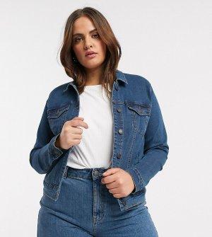 Синяя джинсовая куртка -Голубой Vero Moda Curve
