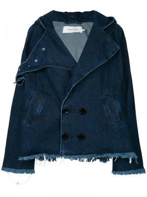 Джинсовая куртка в стиле оверсайз Marques'almeida. Цвет: синий
