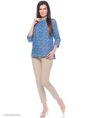 Блузка Битис. Цвет: синий