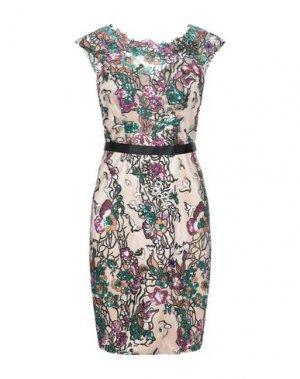 Короткое платье MIKAEL. Цвет: бежевый