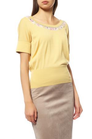 Джемпер Dior. Цвет: желтый