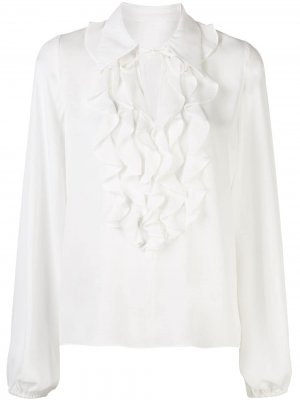 Блузка Niseema с оборками Alexis. Цвет: белый