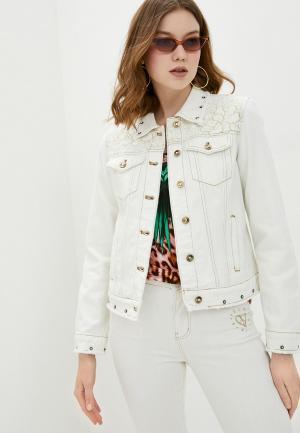 Куртка джинсовая Desigual. Цвет: белый