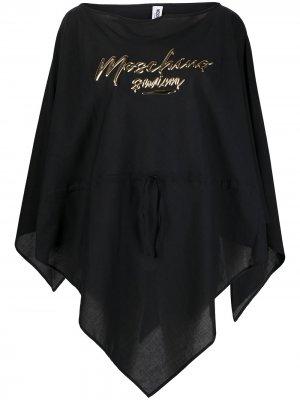 Пончо с логотипом Moschino. Цвет: черный