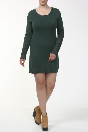 Платье вязаное Aiko. Цвет: зеленый