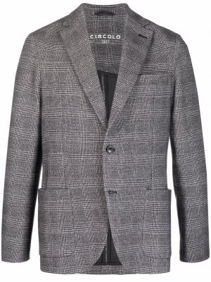 Однобортный пиджак в клетку Circolo 1901. Цвет: черный