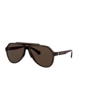 Солнечные очки DOLCE & GABBANA. Цвет: темно-коричневый