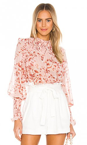 Блузка remi Bardot. Цвет: розовый