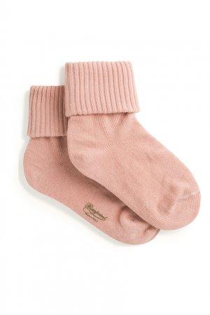 Розовые носки с фактурным узором Bonpoint. Цвет: multicolor