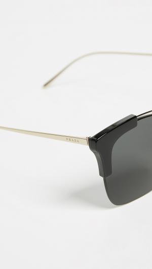 Sleek Square Sunglasses Prada