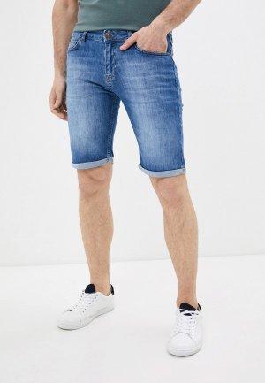 Шорты джинсовые Al Franco. Цвет: голубой