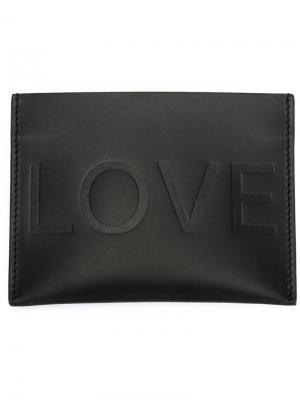 Визитница с тисненым логотипом Givenchy. Цвет: чёрный