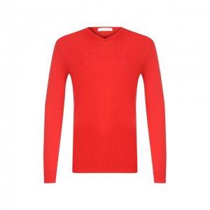 Хлопковый пуловер Daniele Fiesoli. Цвет: красный