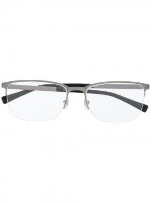 Очки в квадратной оправе Versace Eyewear. Цвет: серебристый