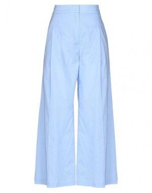 Повседневные брюки 1-ONE. Цвет: небесно-голубой