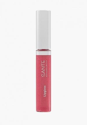 Блеск для губ Sante № 03 Персиково-розовый. Цвет: розовый