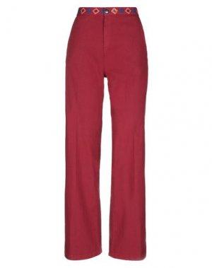 Повседневные брюки COMPAGNIA ITALIANA. Цвет: кирпично-красный