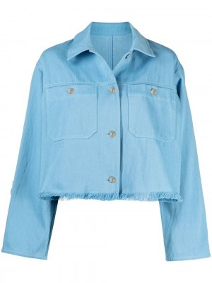 Укороченная джинсовая куртка MSGM. Цвет: синий