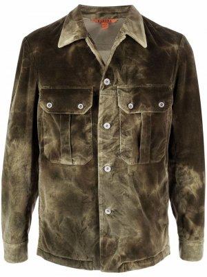 Куртка с принтом тай-дай Barena. Цвет: зеленый
