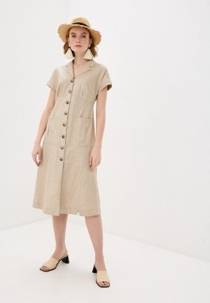 Платье Bulmer. Цвет: бежевый