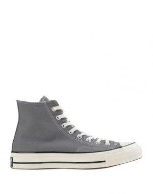 Высокие кеды и кроссовки CONVERSE. Цвет: серый