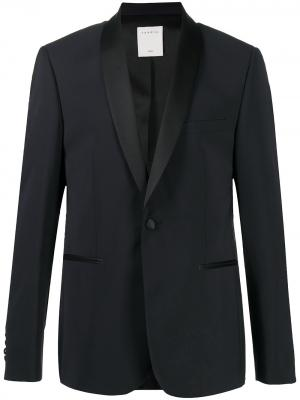 Пиджак-смокинг лацканами-шалькой Sandro Paris. Цвет: синий