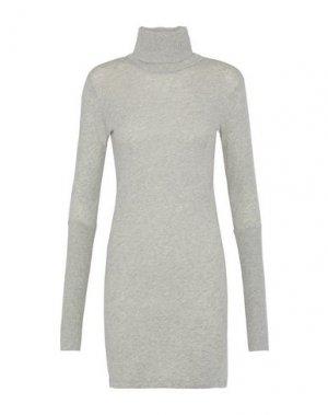 Короткое платье ENZA COSTA. Цвет: серый