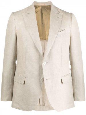 Однобортный пиджак с заостренными лацканами Caruso. Цвет: нейтральные цвета