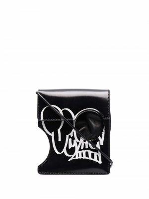 Мини-сумка из коллаборации с Katsu Off-White. Цвет: черный